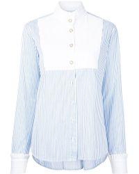 Macgraw - High Neck Striped Shirt - Lyst