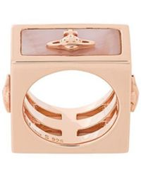 Vivienne Westwood Red Label - Saturn Motif Square Ring - Lyst
