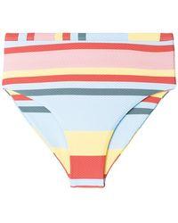 Asceno - Striped Bikini Bottoms - Lyst