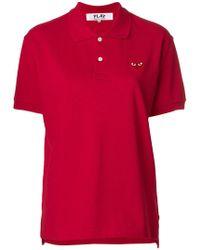 COMME DES GARÇONS PLAY - Play Red Heart Polo Shirt - Lyst