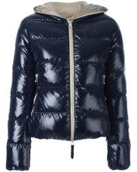 Duvetica   Zipped Hooded Jacket   Lyst