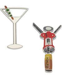 Fendi - Cocktail Embellished Brooch Set - Lyst