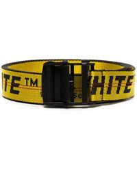 Off-White c/o Virgil Abloh Contrast Logo Print Belt - Yellow