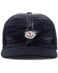 Moncler - Navy Blue Logo Patch Cotton Cap - Lyst 494a2894db0