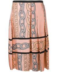 Marni - Chain Print Midi Skirt - Lyst