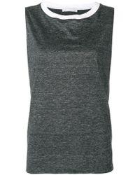 baaef7c3e99d0 Lyst - Fabiana Filippi Sleeveless Fringe   Beaded Tunic Top in Gray
