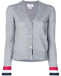 Thom Browne - Striped Cuff Cardigan - Lyst