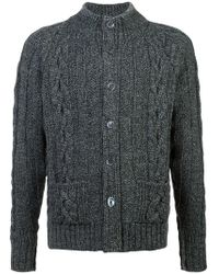 Thom Browne - Cable Knit Cardigan - Lyst
