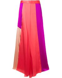 LAYEUR - High Rise Palazzo Trousers - Lyst