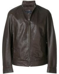 Jeckerson - Zipped Fitted Jacket - Lyst