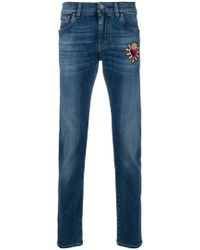 Dolce & Gabbana - Sacred Heart Patch Jeans - Lyst
