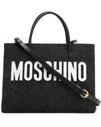 Moschino - Medium Glitter Shopping Bag - Lyst