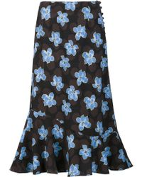 SUNO - Floral Print Skirt - Lyst