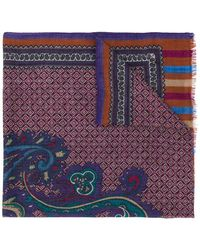 Etro - Paisley And Tile Print Scarf - Lyst