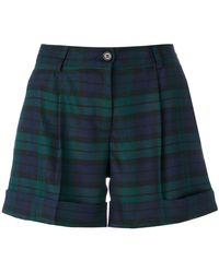 P.A.R.O.S.H. - Plaid Tailored Shorts - Lyst