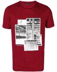 d43adcd9f63c9 Lyst - Camiseta con estampado Gucci de hombre de color Rojo