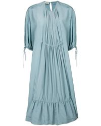 Mulberry - Oversized Pleated Front Dress - Lyst