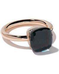 Pomellato - 18kt Rose & White Gold Nudo Blue Topaz Ring - Lyst