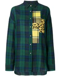 Ermanno Scervino - Patchwork Plaid And Leopard Print Shirt - Lyst