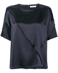 Vince - Raw Edge Silk T-shirt - Lyst