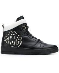 Roberto Cavalli - Side Logo Hi-top Sneakers - Lyst
