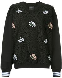 Markus Lupfer - Embroidered Detail Lace Sweatshirt - Lyst