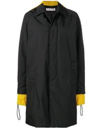 AALTO - Contrasting Detail Button Coat - Lyst