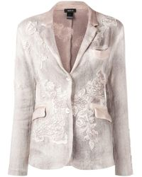 Avant Toi - Floral Embroidered Knit Blazer - Lyst