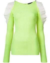 David Koma Cold Shoulder Jumper