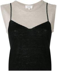 Isa Arfen - Embroidered Sleeveless Sweater - Lyst