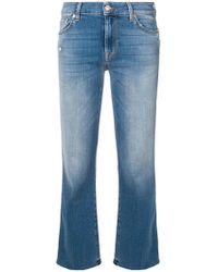 7 For All Mankind - Cropped Bootcut Jeans - Lyst