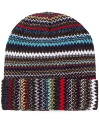 Missoni - Knitted Beanie Hat - Lyst