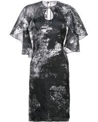 Rubin Singer - Metallic Cape-detail Dress - Lyst