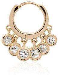 Jacquie Aiche - Diamond Hoop Single Earring - Lyst
