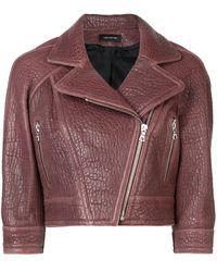 Yigal Azrouël Cropped biker jacket