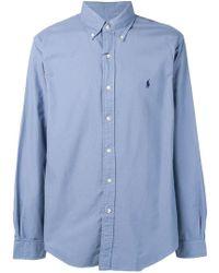 b2dc7e5b5bc5f Polo Ralph Lauren - Camisa con cuello americano - Lyst