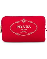 Prada - Косметичка С Принтом Логотипа - Lyst