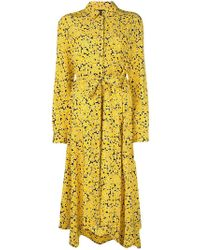 Cedric Charlier - Floral Belted Shirt Dress - Lyst