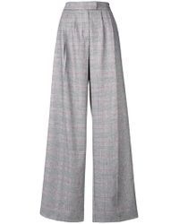 Vivetta - Plaid Flared Tailored Trousers - Lyst