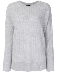 Theory - Dropped Shoulder Cashmere Jumper - Lyst