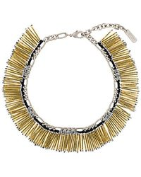 Rada' - Fringed Beaded Necklace - Lyst