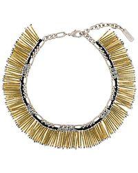 Rada' - Fringed Beaded Necklace - Lyst