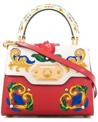 316bf07f6475 Dolce & Gabbana - Сумка-тоут 'welcome' С Вышивкой Majolica - Lyst