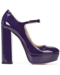 Miu Miu - Zapatos de tac�n estilo Mary Jane - Lyst