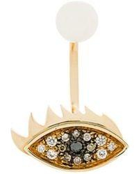 Delfina Delettrez - 18kt Yellow Gold Eyes On Me Piercing Earring - Lyst