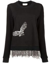 Nicole Miller - Embellished Eagle Sweater - Lyst