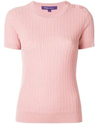 Ralph Lauren - Ribbed Shortsleeved Jumper - Lyst