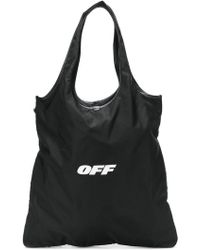 Off-White c/o Virgil Abloh - Logo Print Shoulder Bag - Lyst