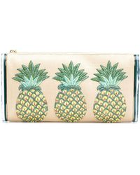 Edie Parker - Pochette à ananas brodés - Lyst