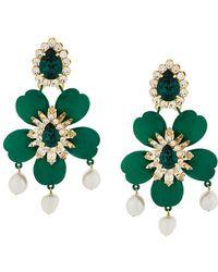 Shourouk   Embellished Floral Earrings   Lyst